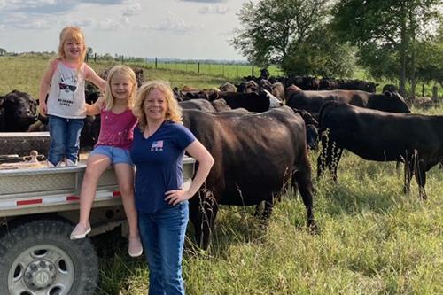 Liz Pierce and her daughters